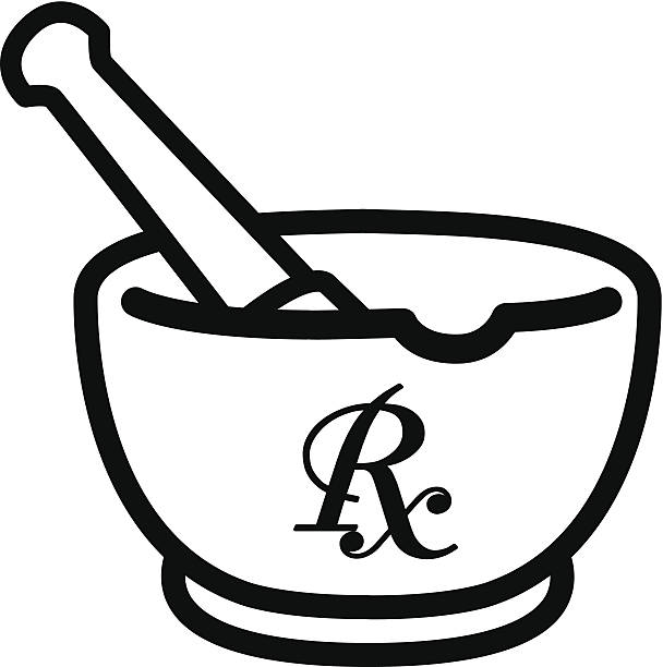 Mortar and pestle clipart.