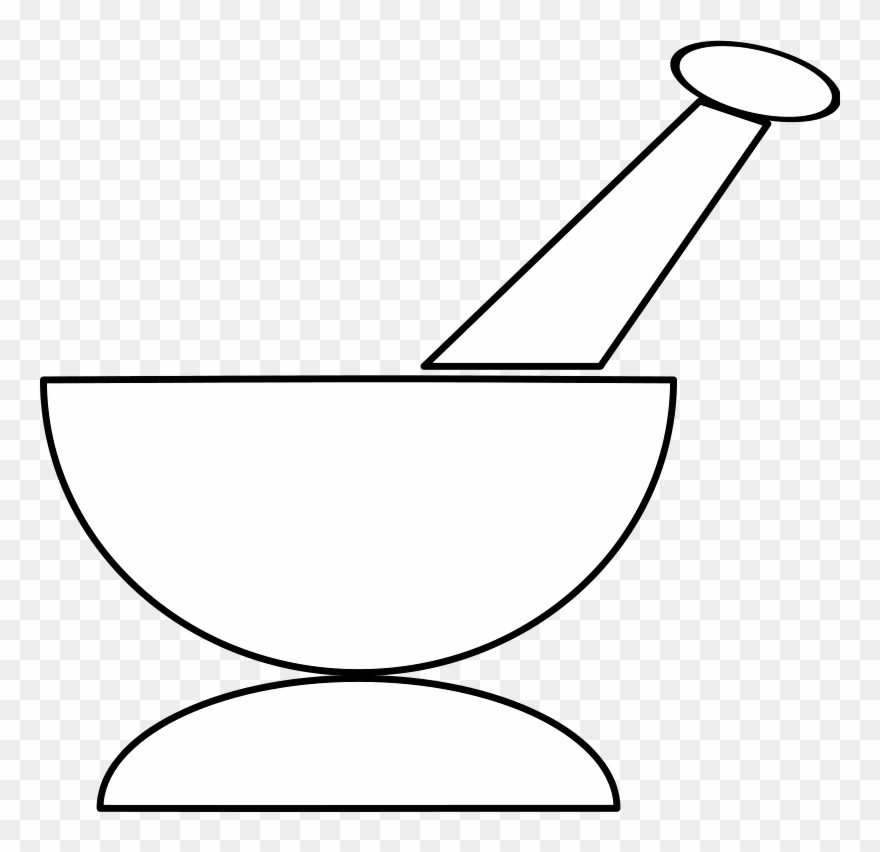 Free Vector Mortar And Pestle Clip Art.