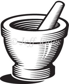Free Vector Art: Mortar and Pestle.