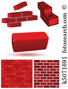 Mortar joint Clipart Vector Graphics. 4 mortar joint EPS clip art.