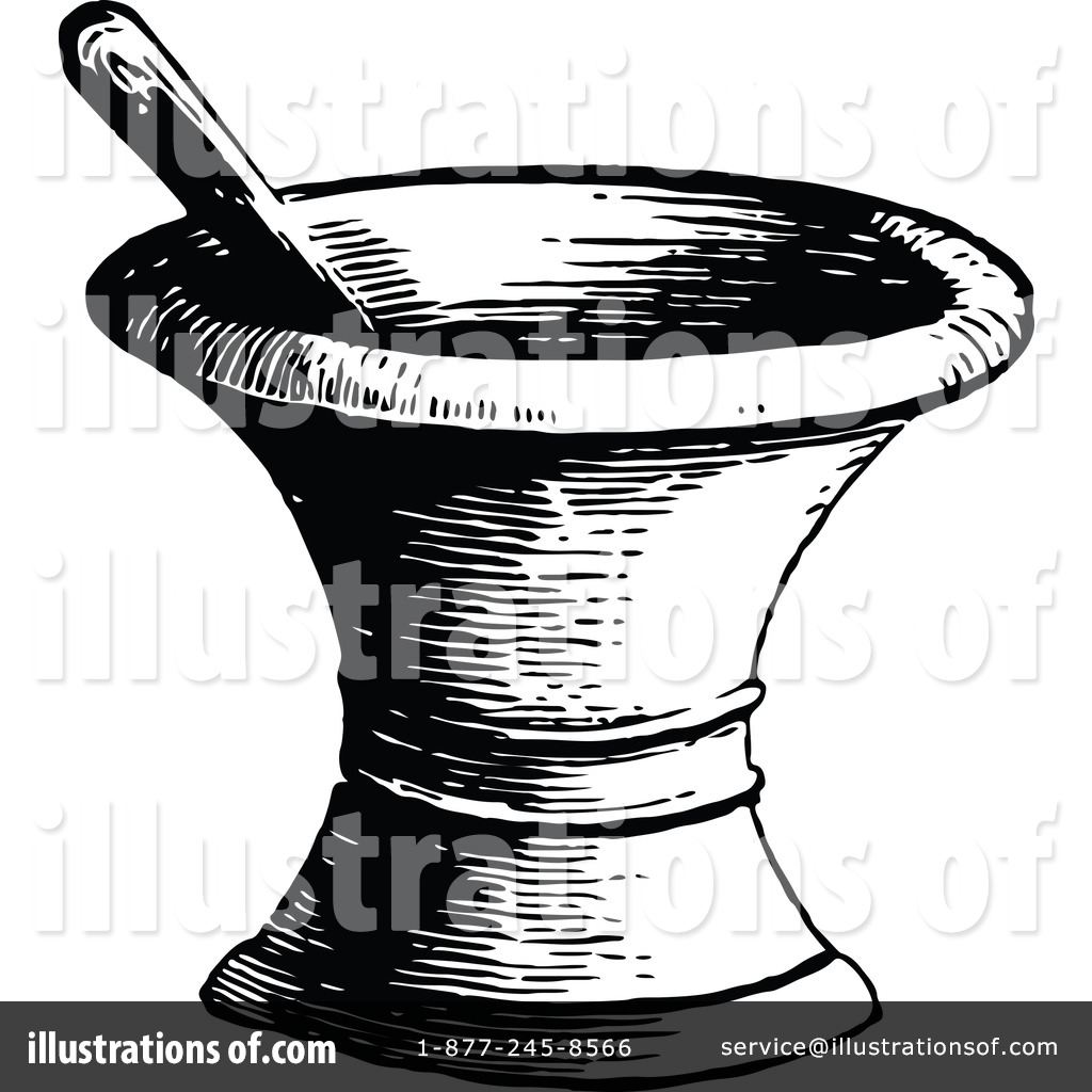 Mortar And Pestle Clipart #1137854.