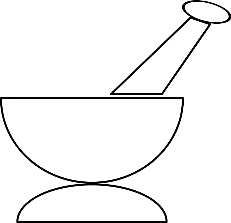 Free Clipart: Mortar and Pestle.