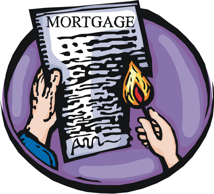 Mortgage Burning Clipart.