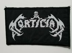 Details about Mortician logo WOVEN PATCH.