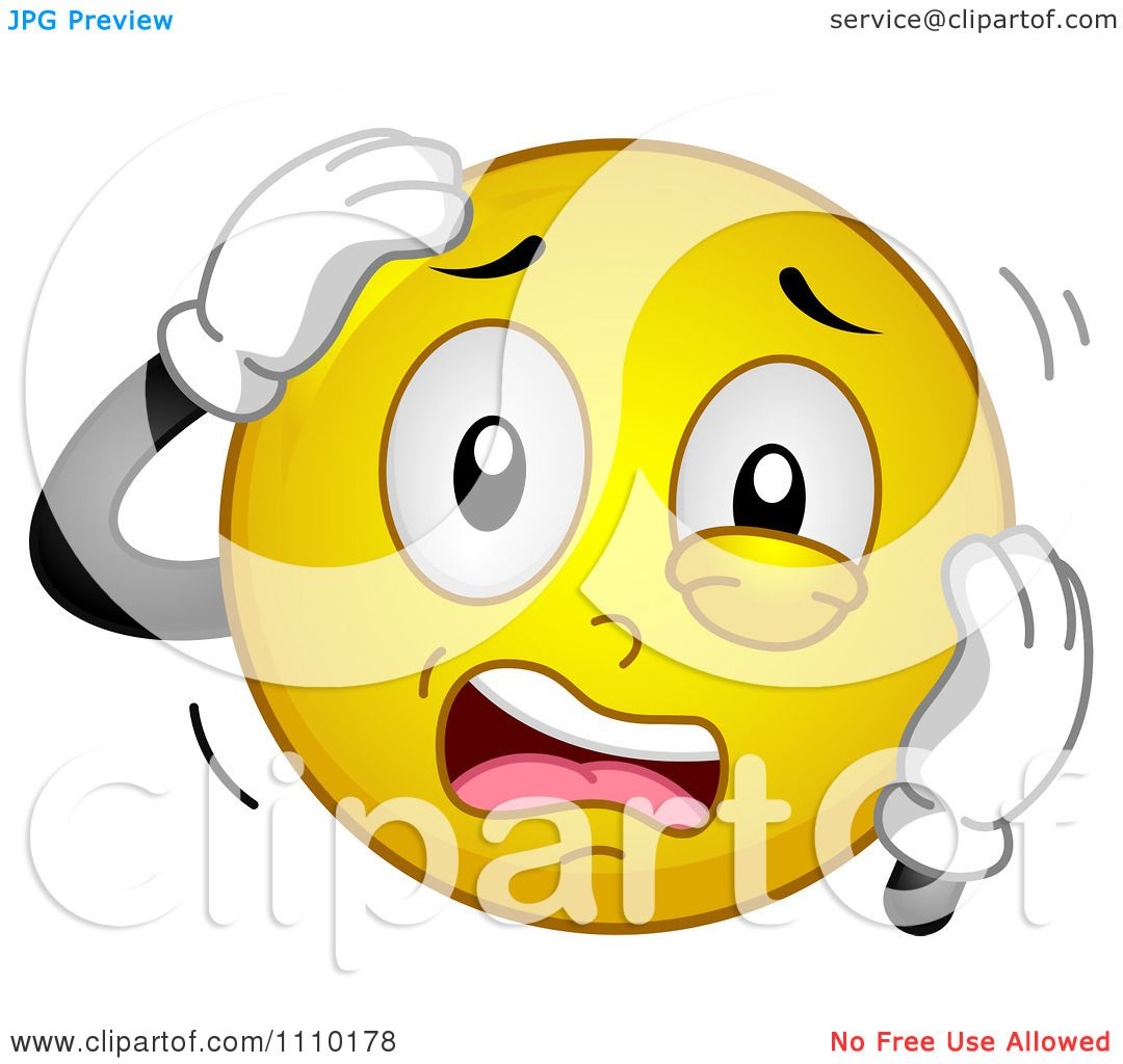 Clipart Yellow Smiley Stressing Out.