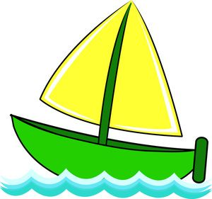 Free Sailboat Clip Art Image Cute Little Sailboat On Waves.