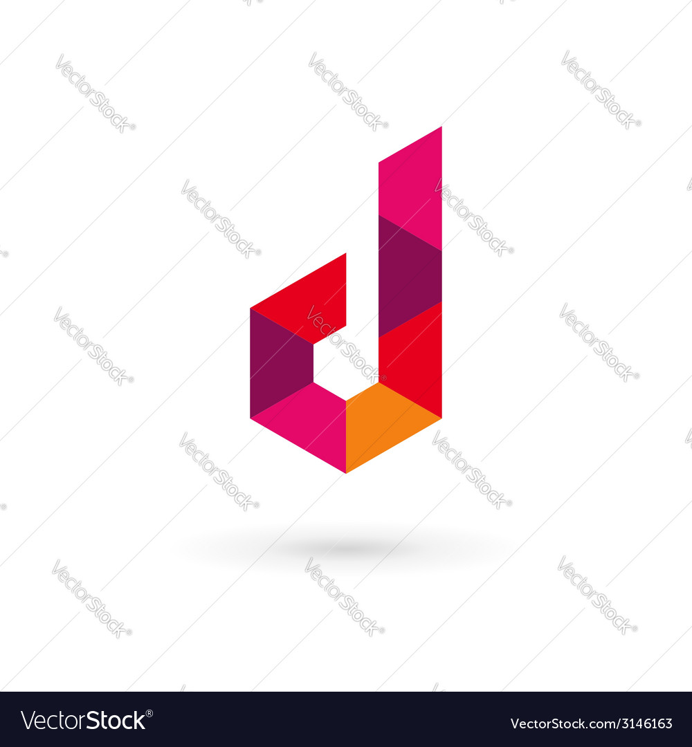 Letter D mosaic logo icon design template elements.