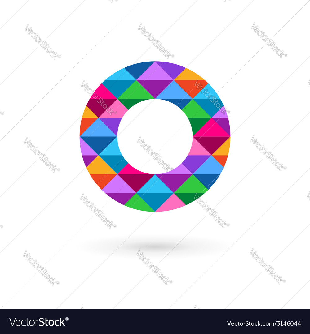 Letter O mosaic logo icon design template elements.