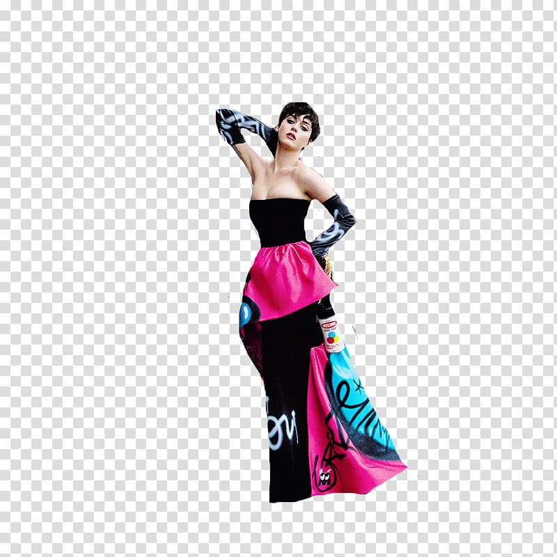 Katy Perry Moschino transparent background PNG clipart.