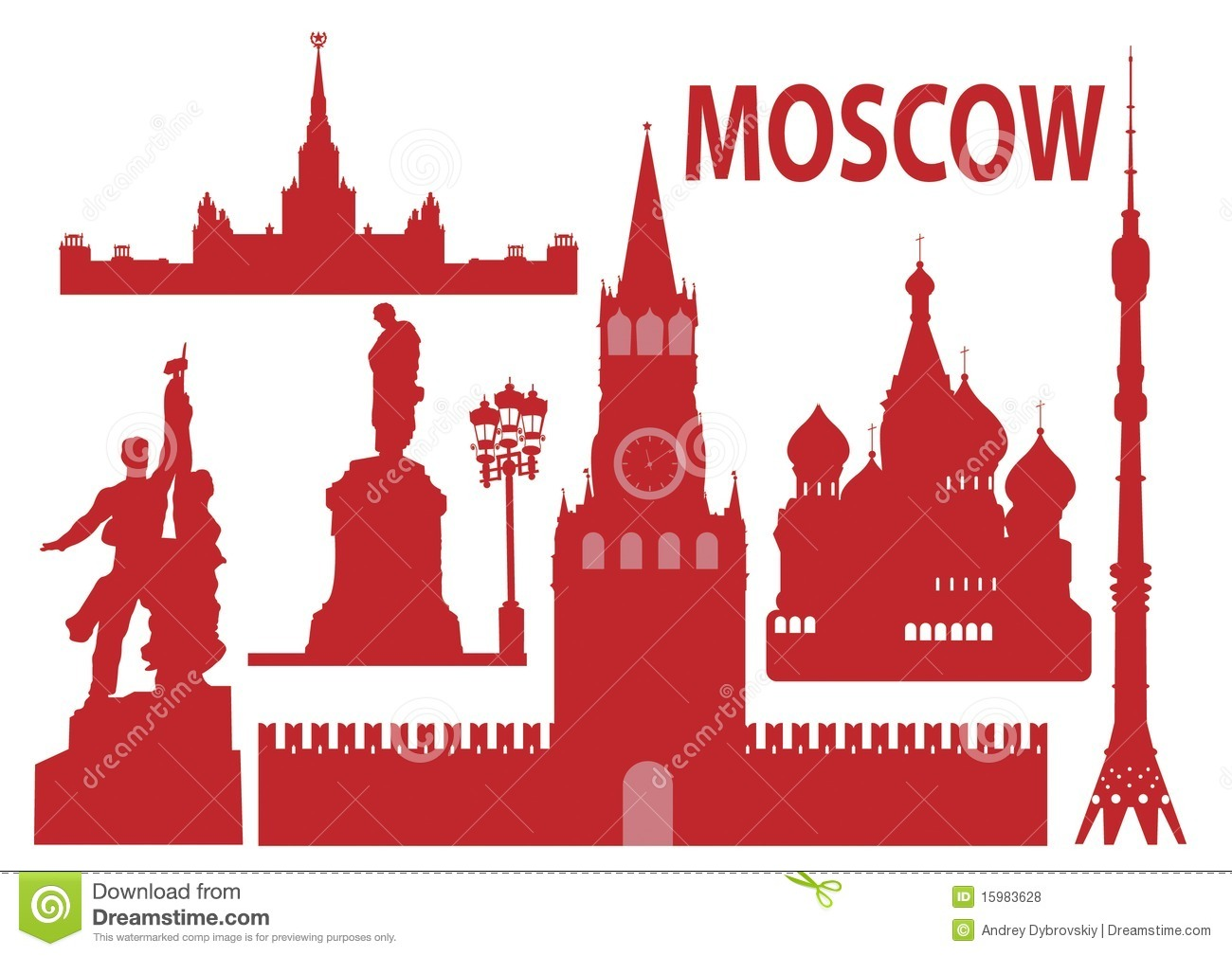 Moscow Stock Illustrations.