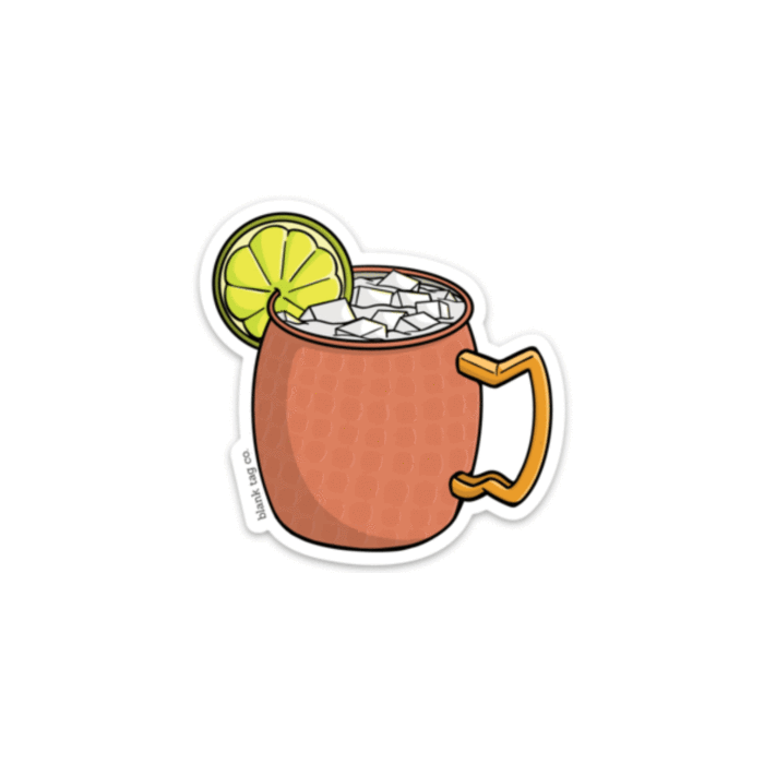 The Moscow Mule Sticker.