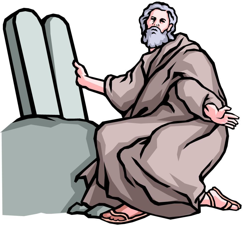 Free clipart moses 10 commandments.
