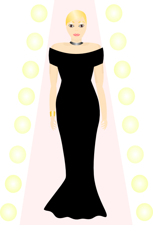 Runway model clipart.