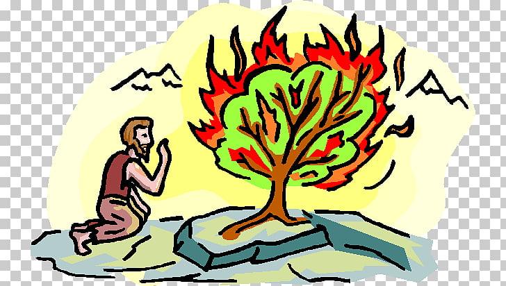 Book of Exodus Burning bush Bible Mount Sinai , God PNG.