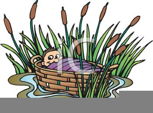 Moses Basket Clipart.