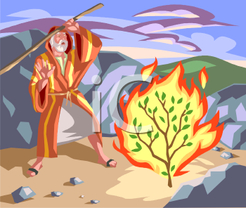 Royalty Free Clip Art Image: Moses in the Desert with the.