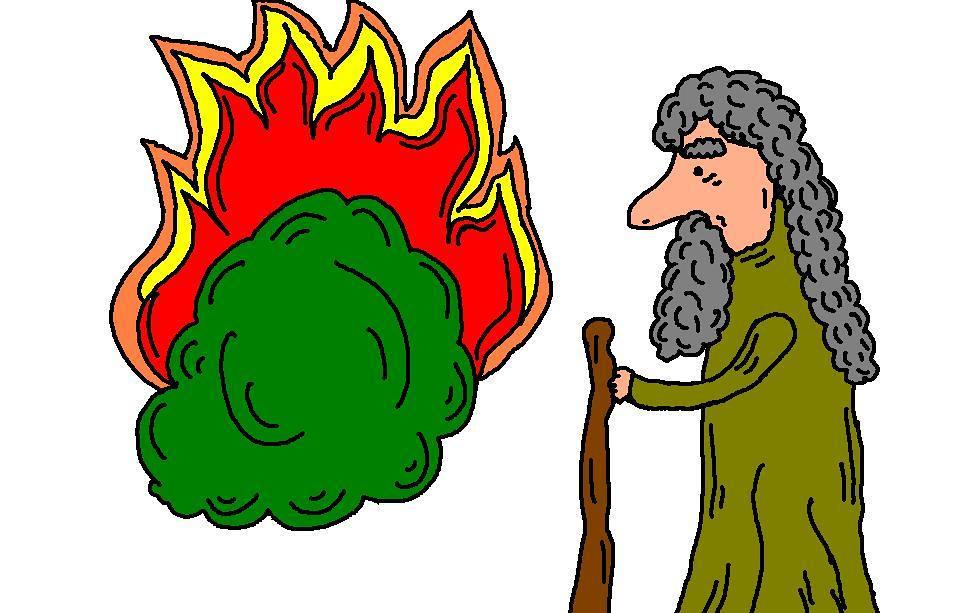 Moses and Burning Bush.