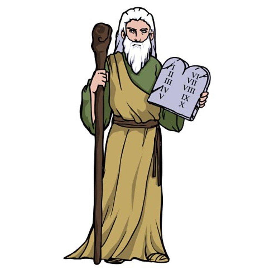 Moses Ten Commandments Clip Art free image.