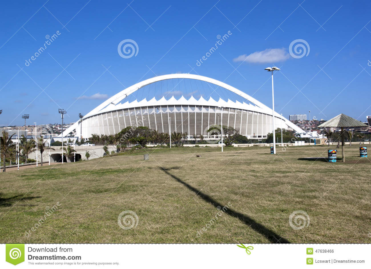 View Of Moses Mabhida Stadium From Durban Promenade Editorial.