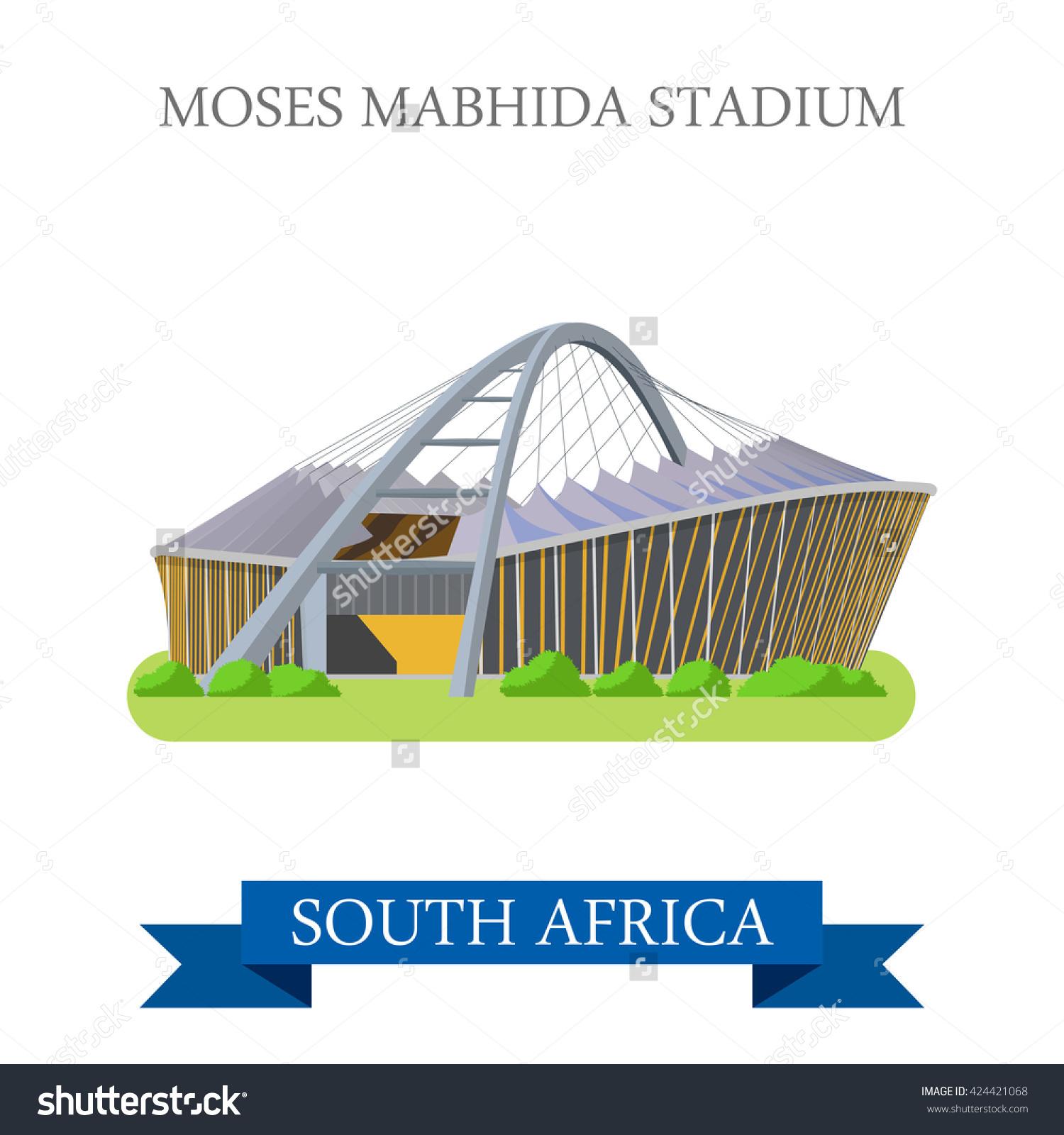 Moses Mabhida Stadium Durban South Africa Stock Vector 424421068.