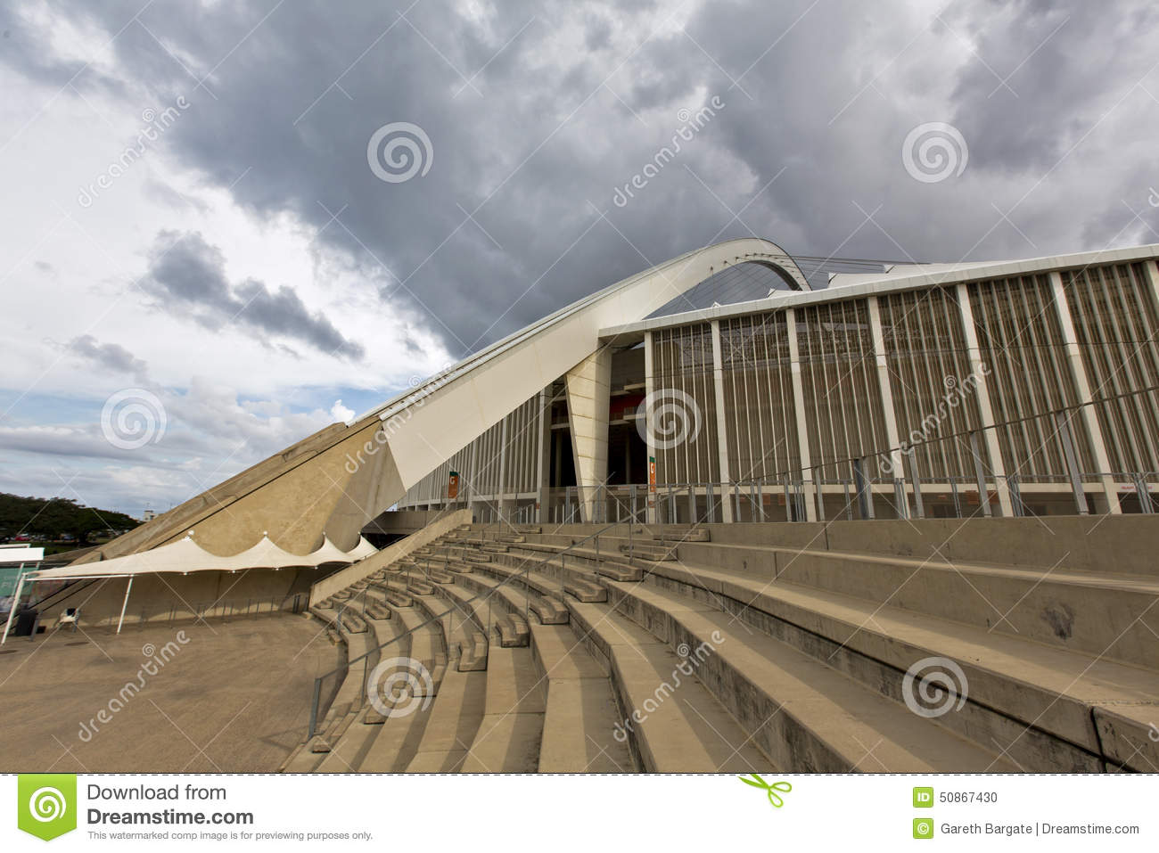 Moses Mabhida Stadium Arch And Staircase Editorial Image.