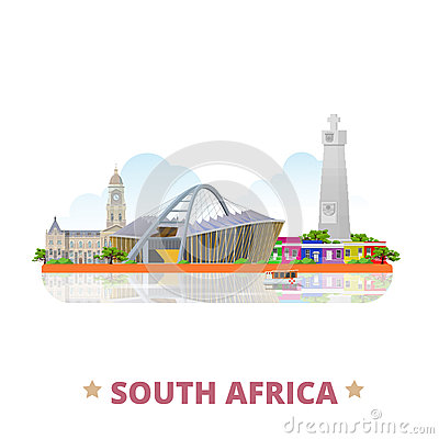 Moses Mabhida Stadium Durban South Africa Stock Illustrations.