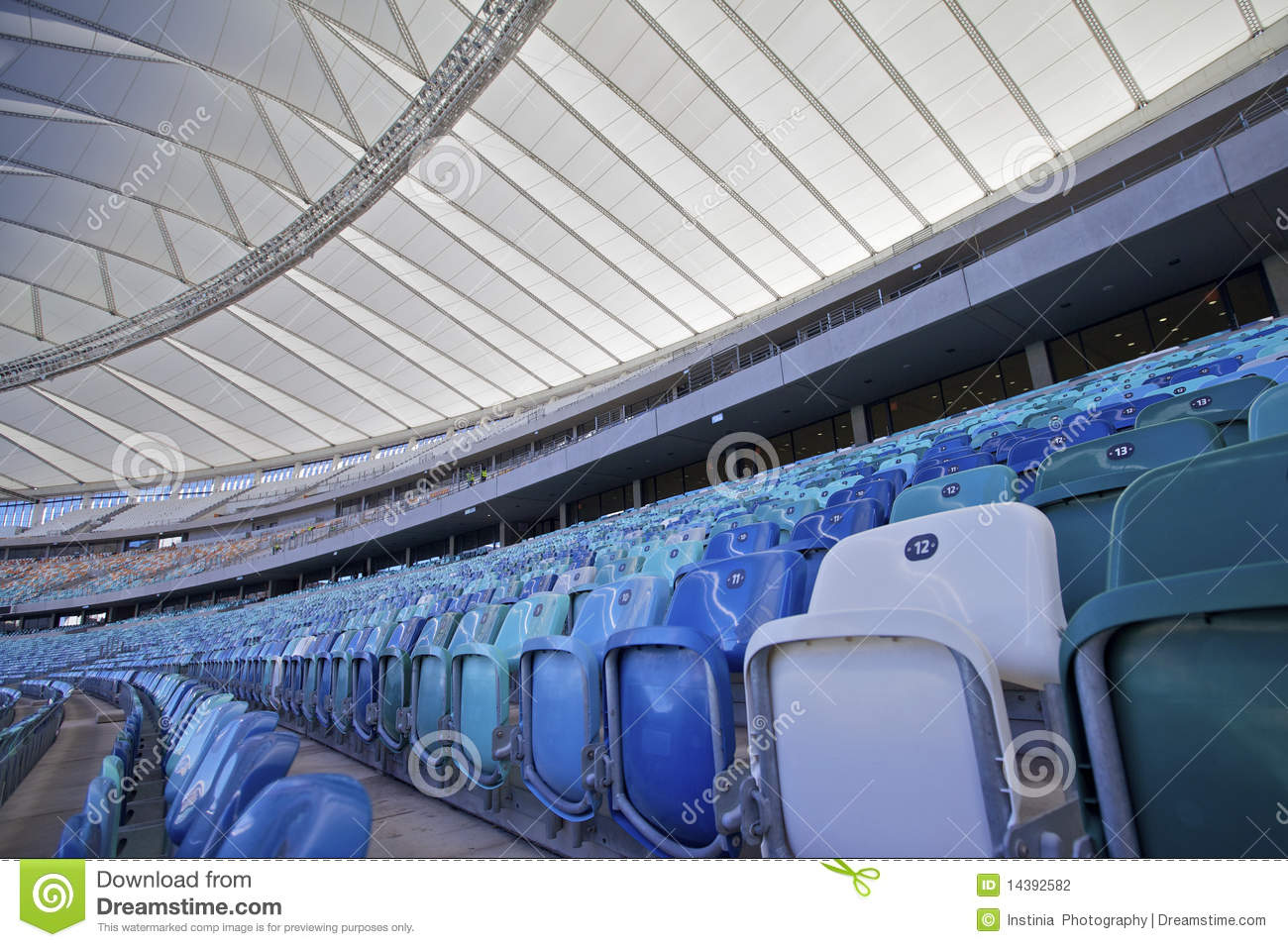 Moses Mabhida Stadium, Fifa Football. Seating Area Editorial.