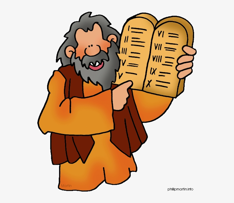 Download Free png Moses Ten Commandments Clipart Free.