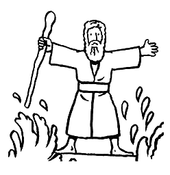 Moses Clipart parting the red sea.