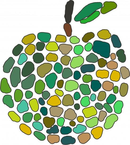 Mosaic Apple Free Stock Photo.