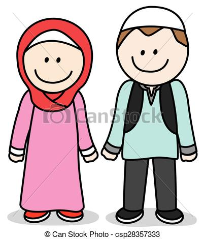 Vectors of Muslim parent csp28357333.