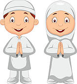 Clipart of kid moslem k10613920.