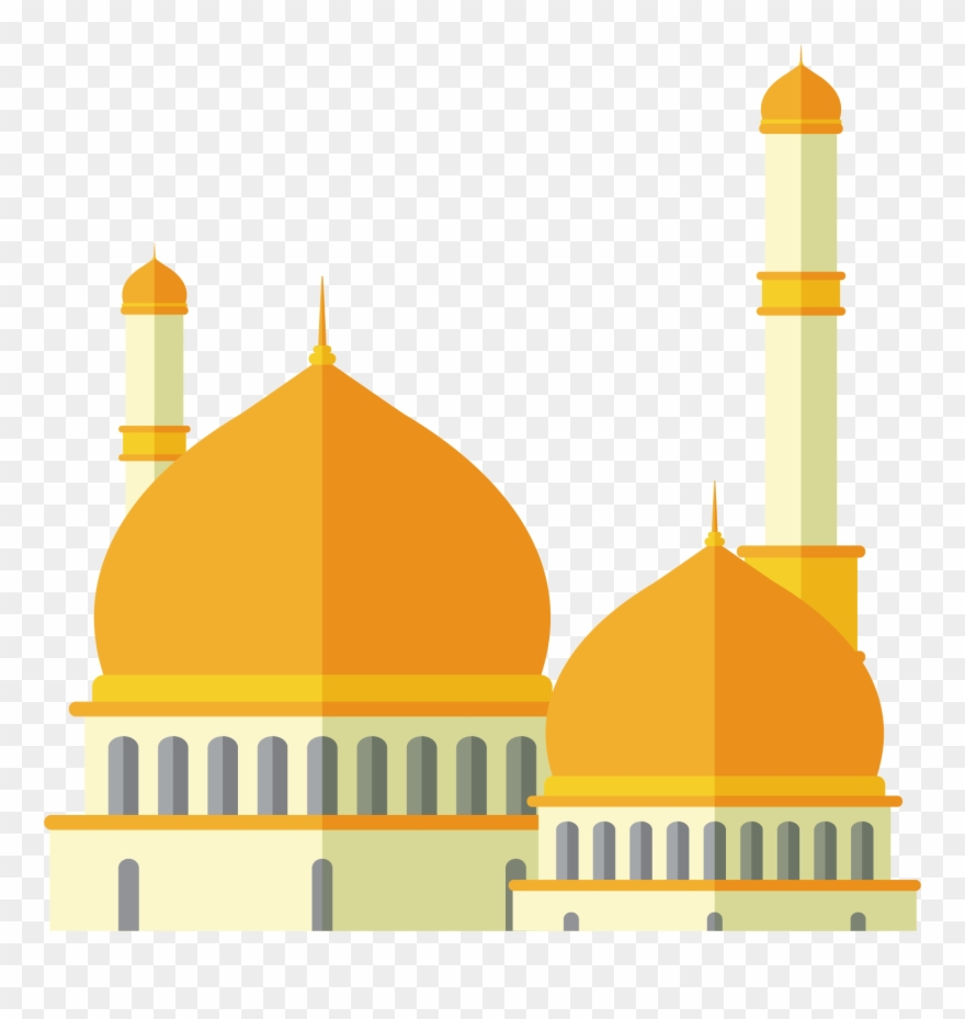 Watercolor Mosque Free Png And Clipart Vector, Clipart.