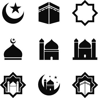 Mosque Clip Art of Muslims.