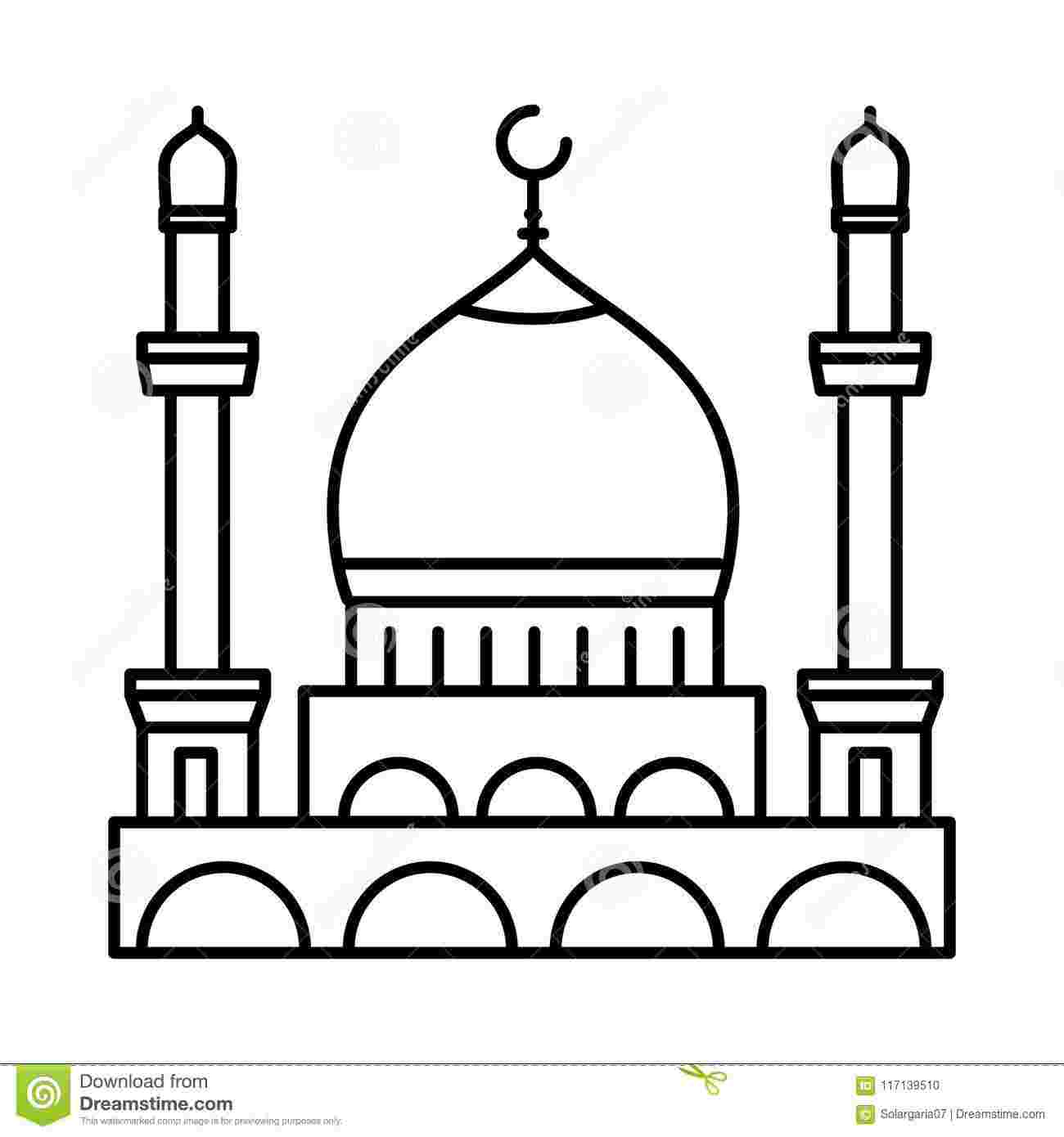 Best Cliparts: Black And White Mosque Clipart.