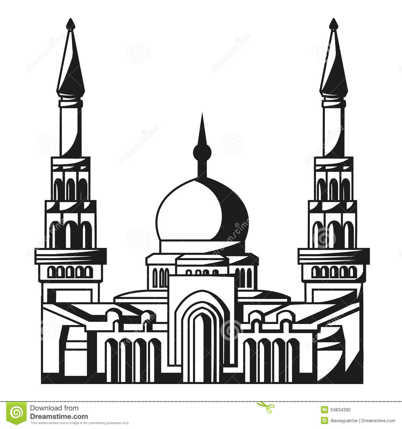 Mosque clipart black and white 4 » Clipart Station.