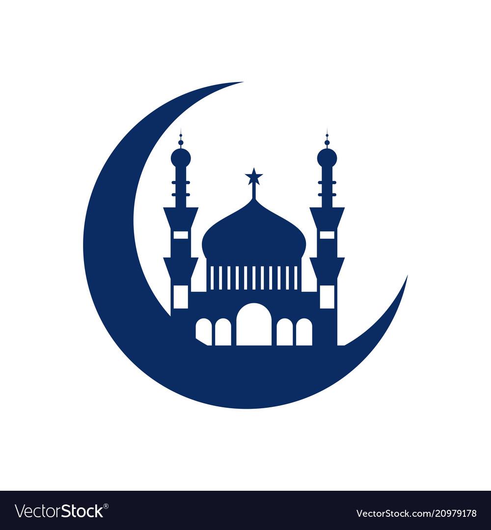 Crescent mosque islamic design.