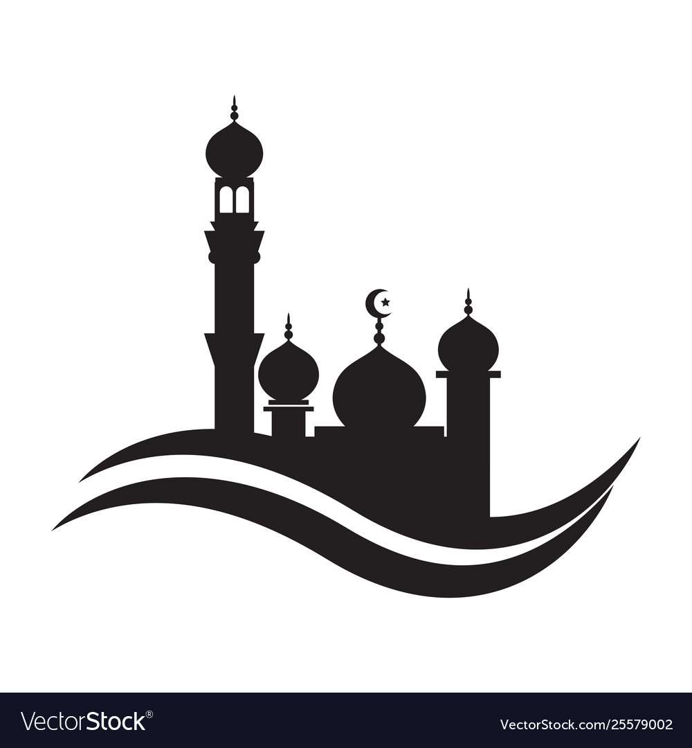 Mosque icon design template mosque.