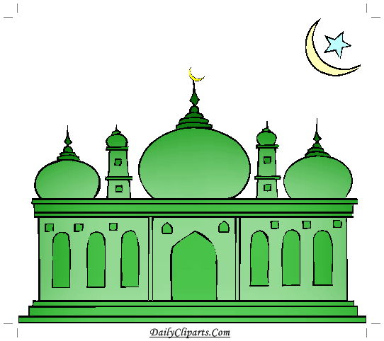 Green Mosque Clipart.