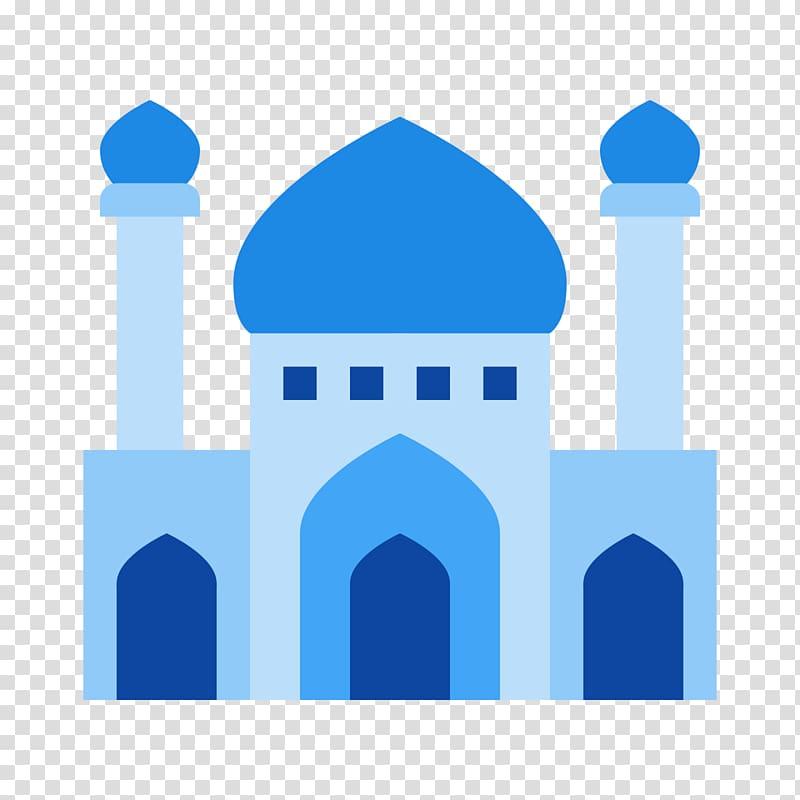 Blue castle illustration, Quran Computer Icons Mosque Font.