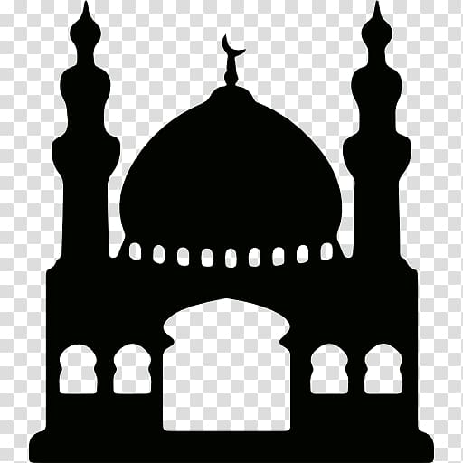 Silhouette of mosque illustration, Kaaba Mosque Computer.