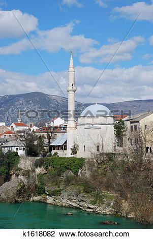 Stock Photo of Koski Mehmed Pasha Mosque in Mostar k1618082.