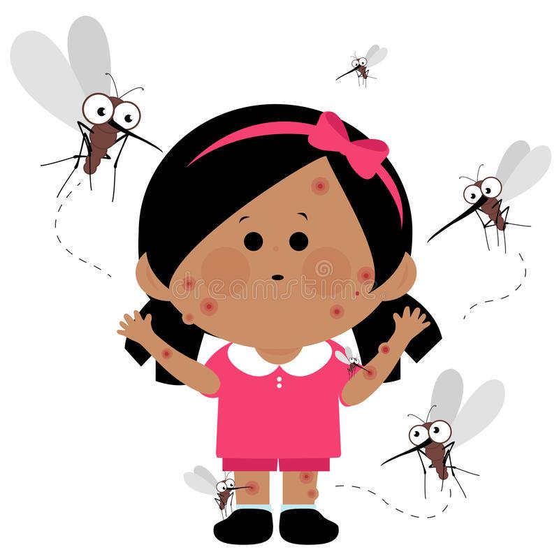 Mosquito Bites Stock Illustrations.