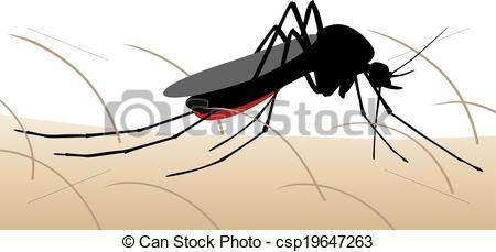 Clip Art Vector of Mosquito bite.