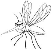 Black And White Mosquito Clip Art.