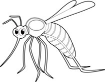 Mosquito clipart black and white 4 » Clipart Portal.