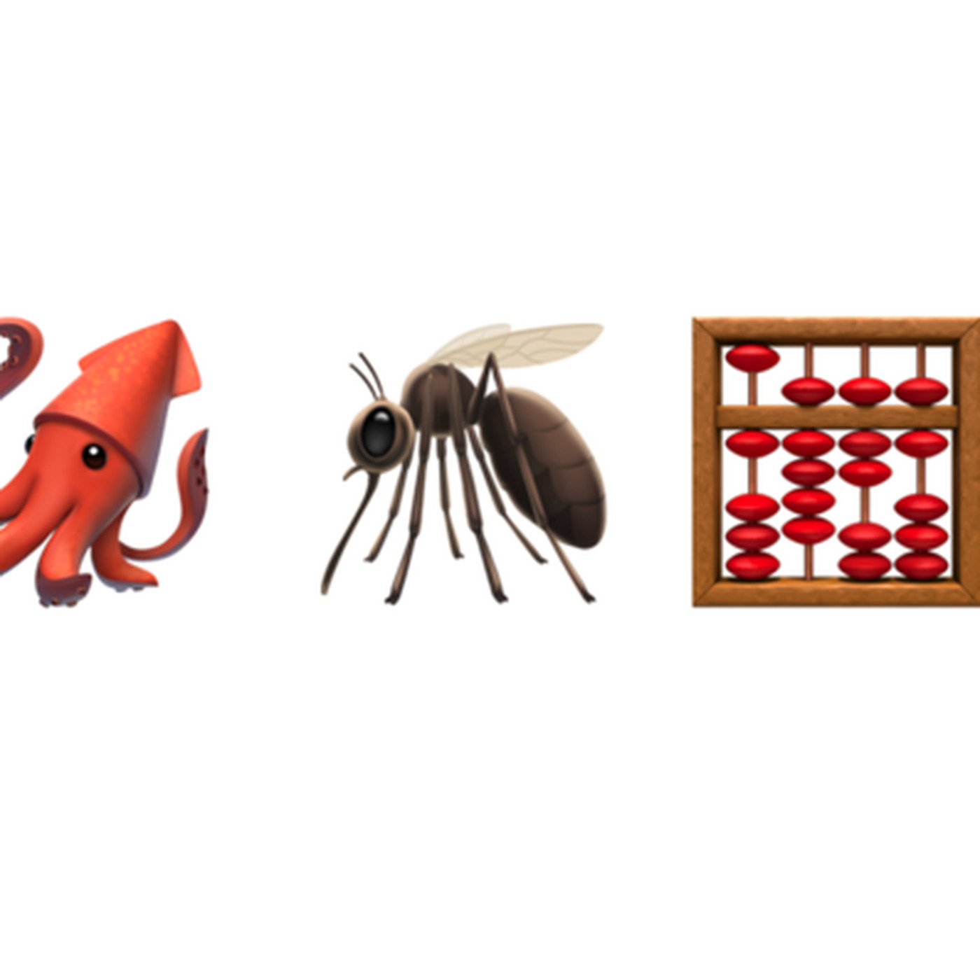 iOS 13.1 finally fixes the squid, mosquito, and abacus emoji.