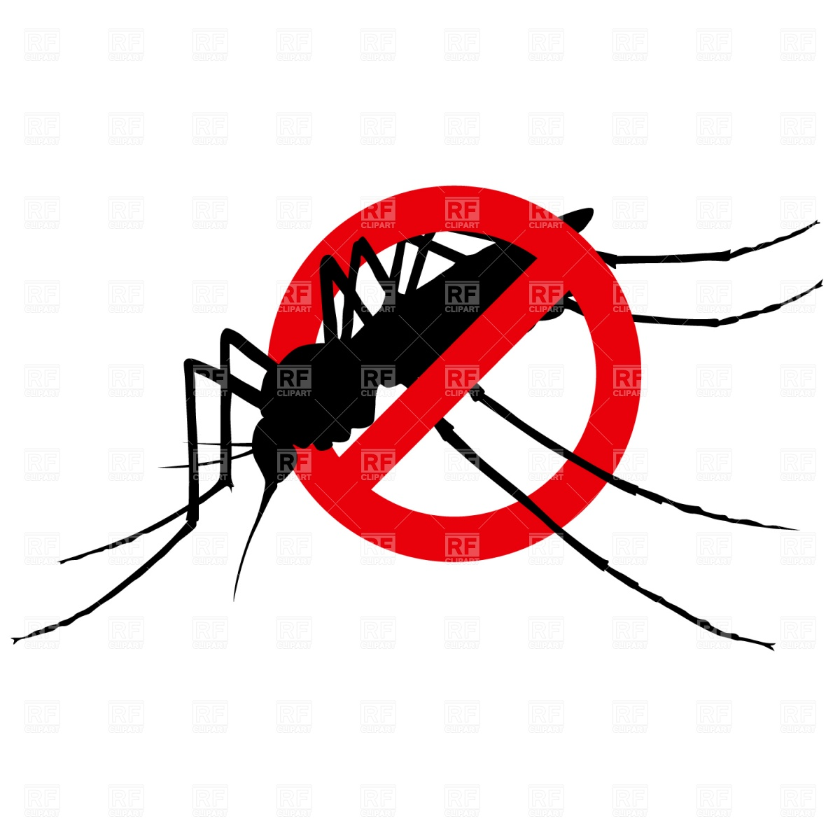No mosquito sign Stock Vector Image.