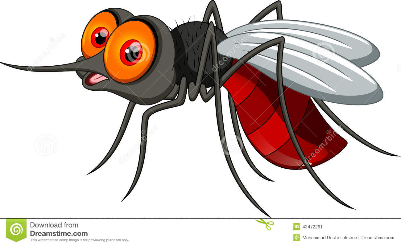 Cartoon Mosquitoes Clipart.