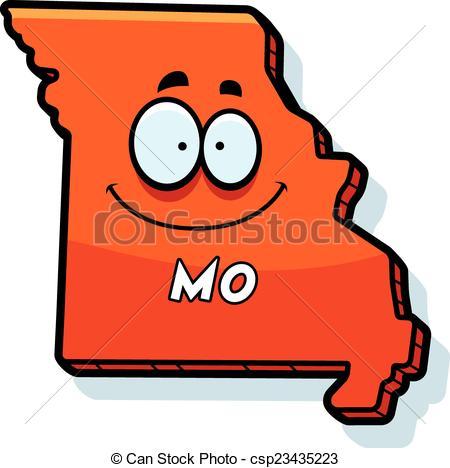 Vector Illustration of Cartoon Missouri.